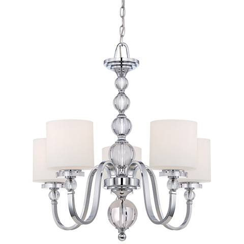 """Downtown Collection 28"""" Wide 5 Light Chandelier"""