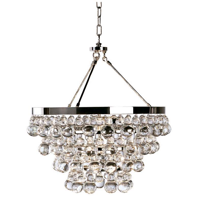 "Bling 20 1/2"" Wide Antique Polished Nickel Chandelier"