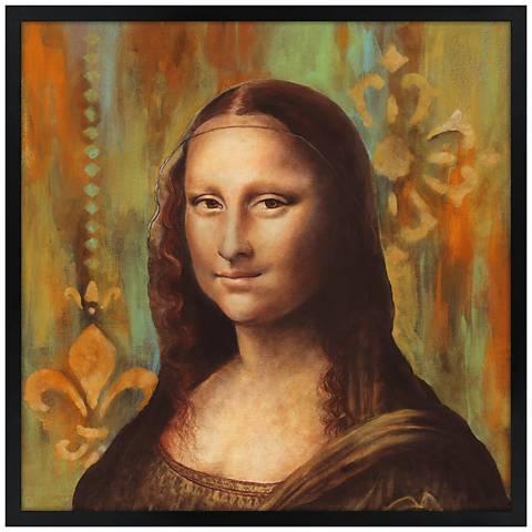 "Florentine 26"" Black Square Giclee 26"" Square Wall Art"
