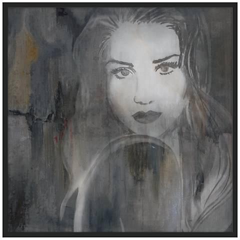 """Flirt 37""""x37"""" Wall Art in Black Frame"""