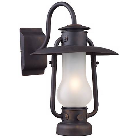 "Stagecoach Matte Black 16"" High Wall Sconce"