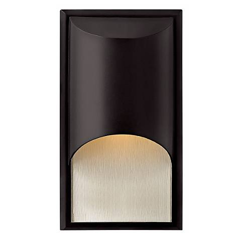 "Hinkley Cascade Black 14 1/2"" High Outdoor Wall Light"