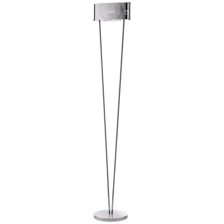 Leucos Vittoria Mirrored Glass and Chrome Floor Lamp