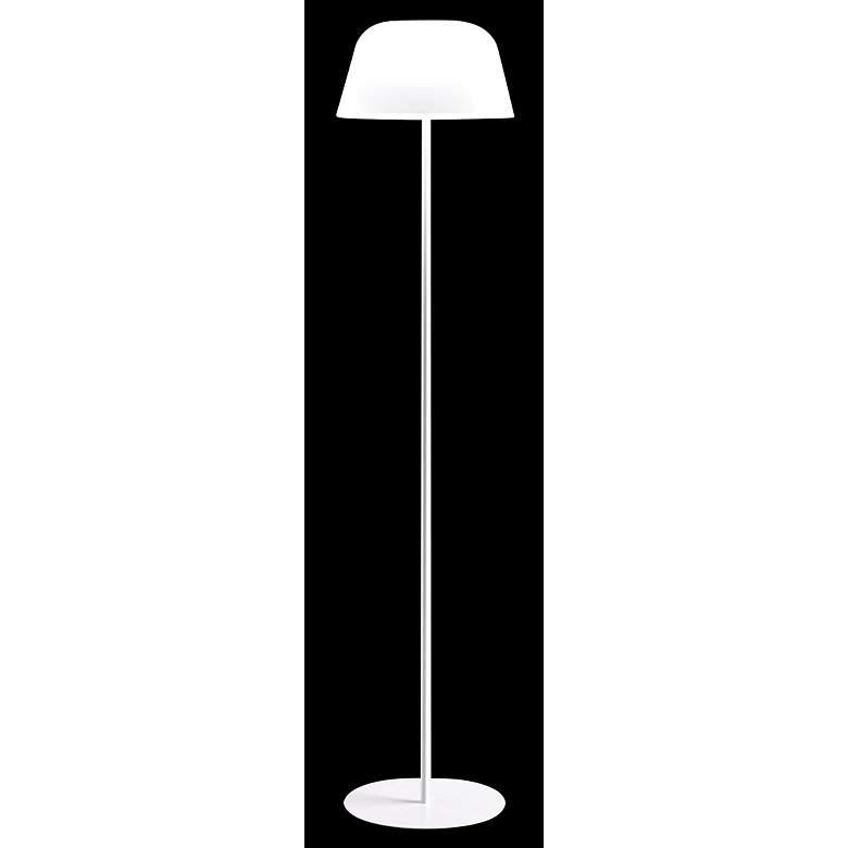 Leucos Ayers White Glass Floor Lamp