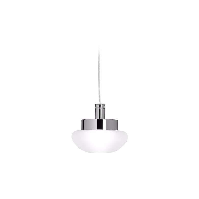 Leucos Ony S Satin White Glass Mini Pendant Light