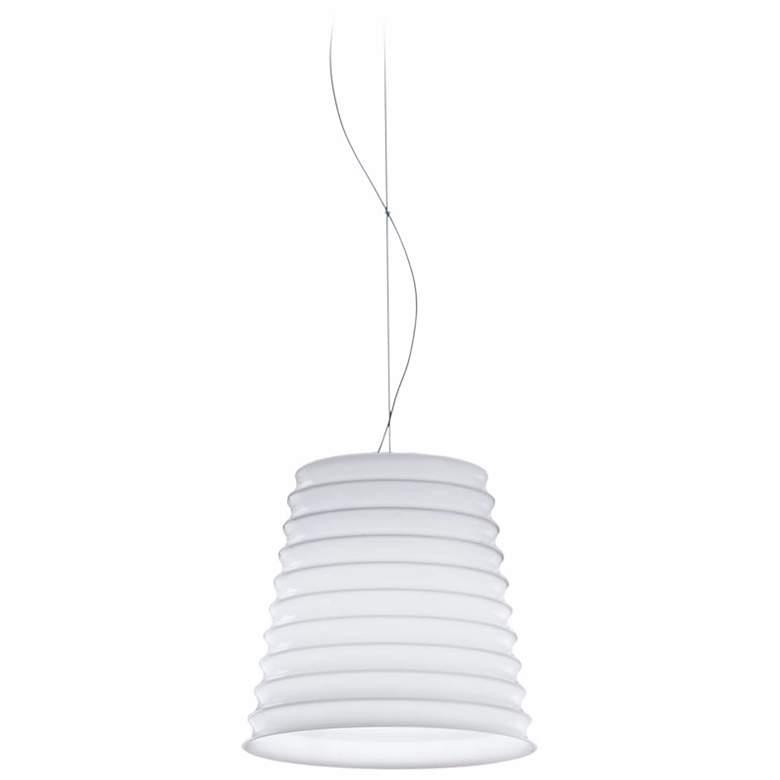 Leucos Modulo S22 White Layered Glass Mini Pendant Light