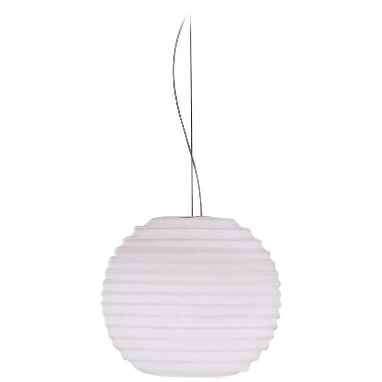 Leucos Modulo S35 White Glass Pendant Light