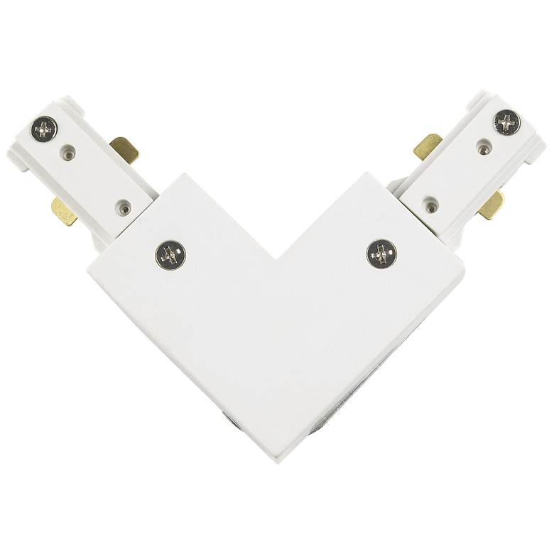 Intense Single Circuit White 90 Degree Track Connector