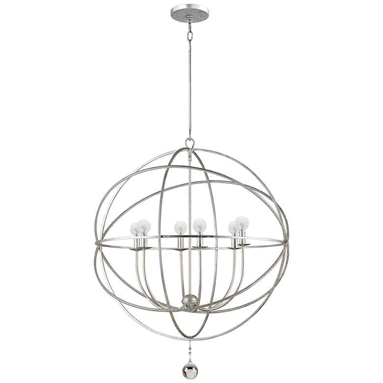 "Solaris Collection 28"" Wide 6-Light Modern Orb Pendant Light"