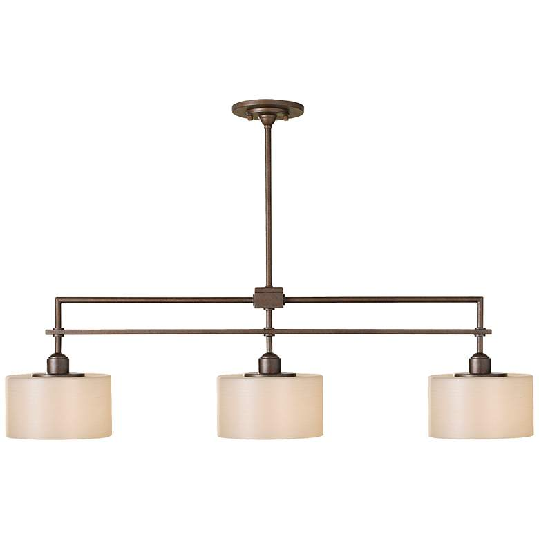 "Feiss Sunset Drive 40"" Wide 3-Light Linear Island Chandelier"