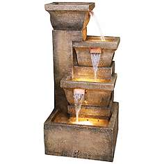 Outdoor Waterfall Fountains for Garden, Patio & More | Lamps Plus