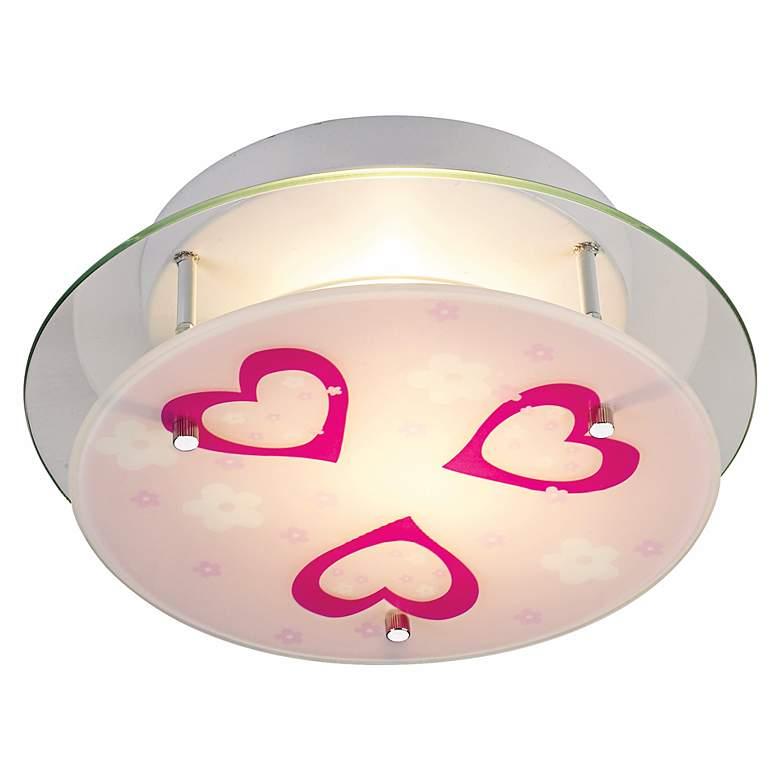 Heart 2-Light Semiflush Ceiling Light