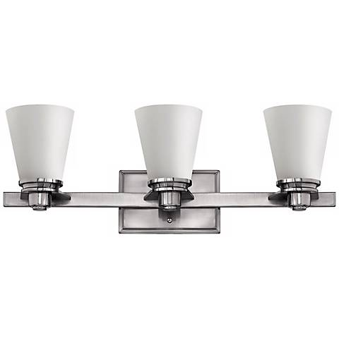 "Avon Collection Nickel 23"" Wide 3-Light Bathroom Wall Light"
