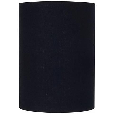 Black Linen Cylinder Lamp Shade 8x8x11 (Spider)