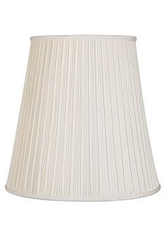 17 inch and up large table and floor lamps pleated lamp shades creme mushroom pleat lamp shade 12x18x18 spider mozeypictures Images