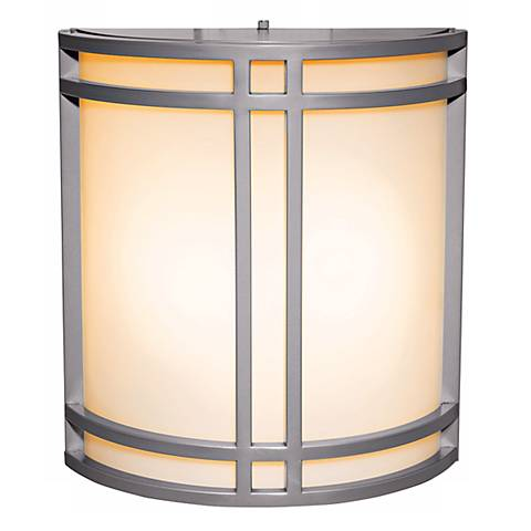 Artemis Satin Silver Energy Efficient Outdoor Wall Sconce