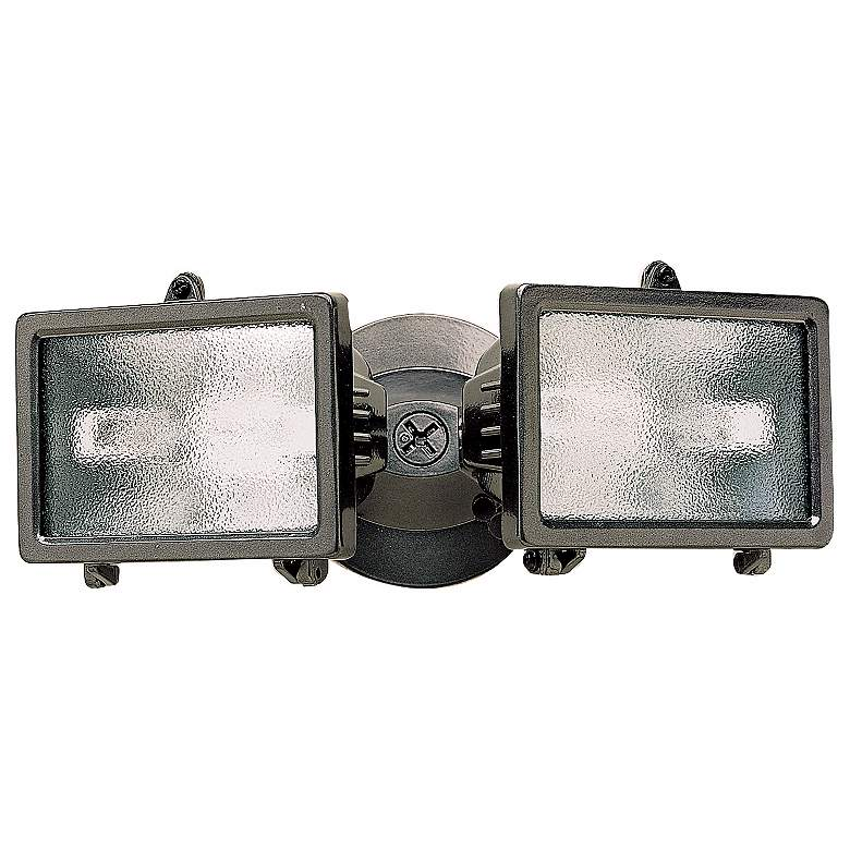 "Bronze Finish 12 1/4"" Wide Twin Halogen Security"