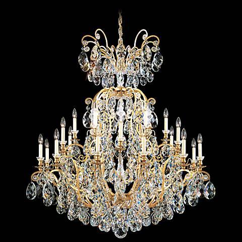"Schonbek Renaissance 45""W Heirloom Gold Crystal Chandelier"