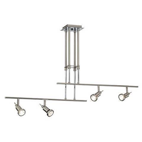 Two Rail Adjustable 4-Light Ceiling Fixture