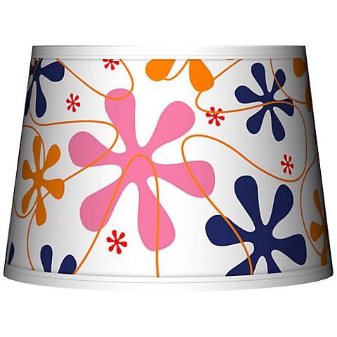 Retro Pink Tapered Lamp Shade 10x12x8 (Spider)