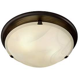 Broan Sleek Circle Rubbed Bronze Bathroom Fan With Light