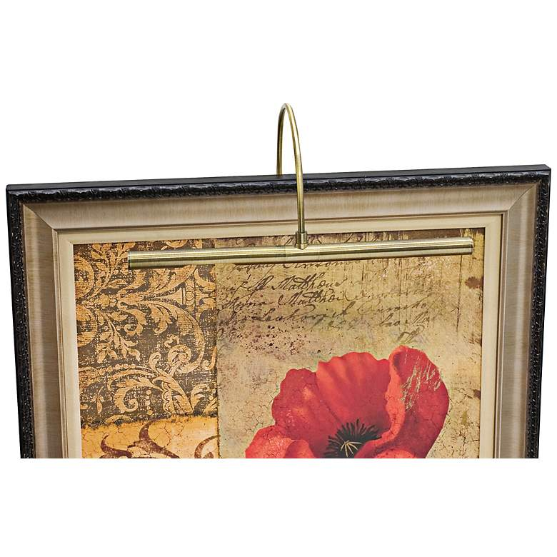 """House of Troy 16"""" Advent Profile Brass Picture Light"""