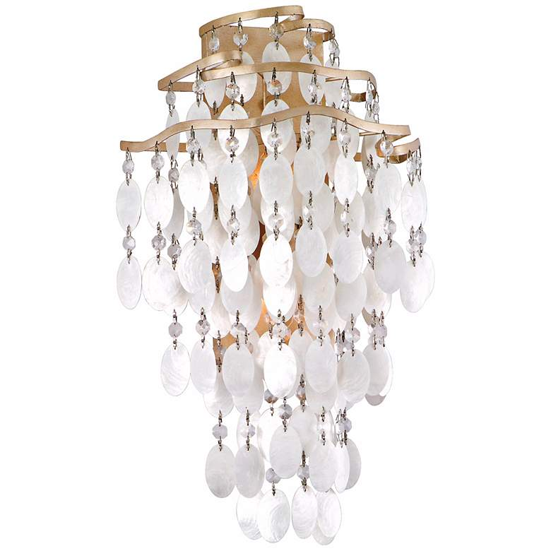 "Dolce Capiz Shell 18 1/2"" High Wall Sconce by Corbett"