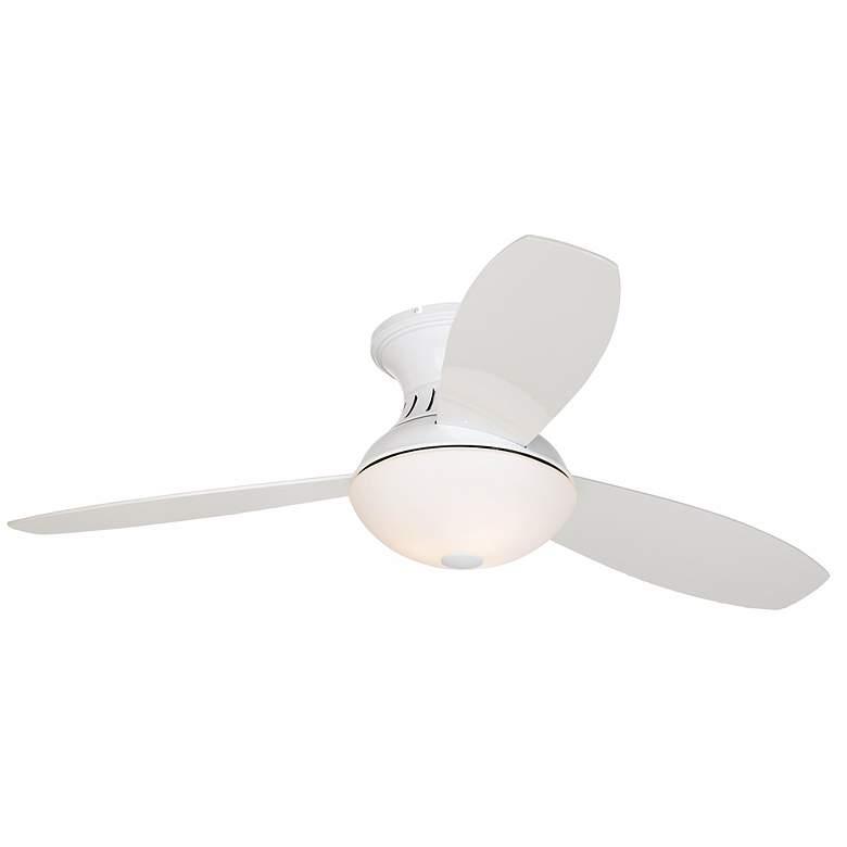 "Possini Euro Design 44"" Encore® White Hugger Ceiling Fan"