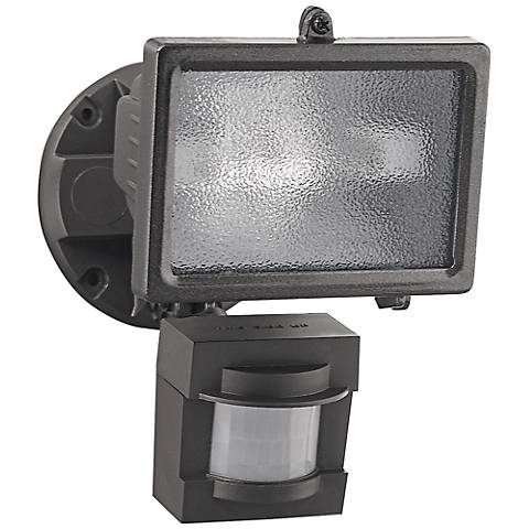 Bronze 150-Watt Halogen Motion Sensor Security Floodlight