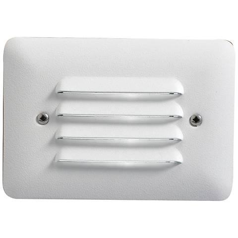 """Kichler 5""""W Louvered 2.5-Watt 3000K LED White Step Light"""