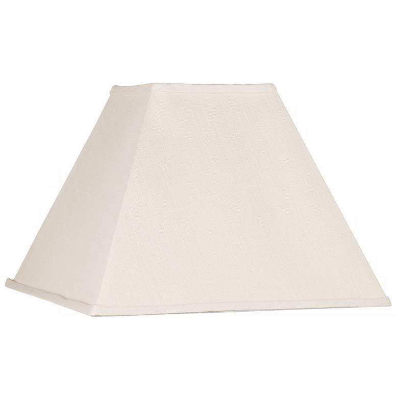 Beige Linen Square Lamp Shade 7x17x13 (Spider)