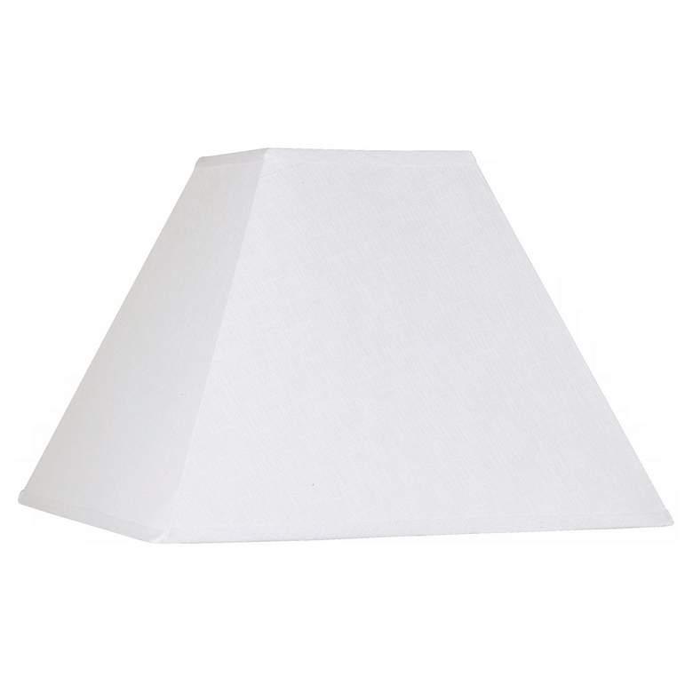 White Linen Square Lamp Shade 7x17x13 (Spider)