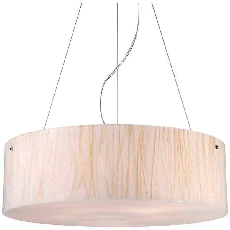 Modern Organics Collection White Sawgrass Pendant Light