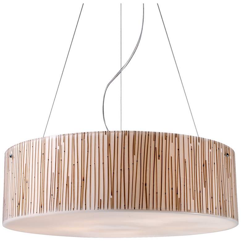 "Modern Organics 24"" Wide Bamboo Stems Pendant Light"
