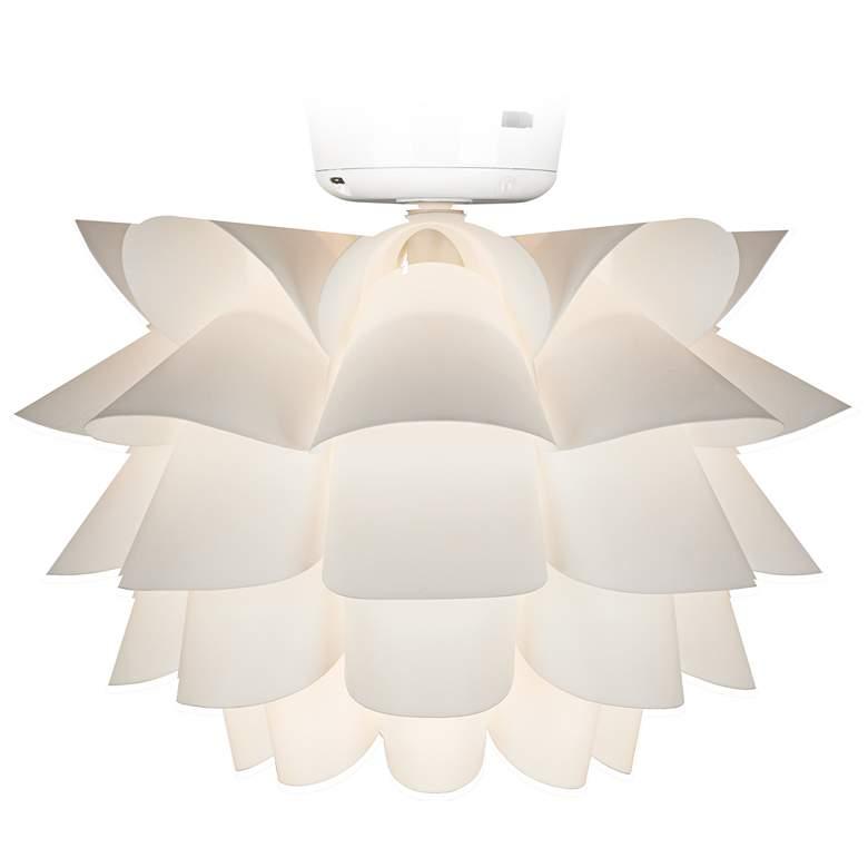 White Flower Ceiling Fan Light Kit