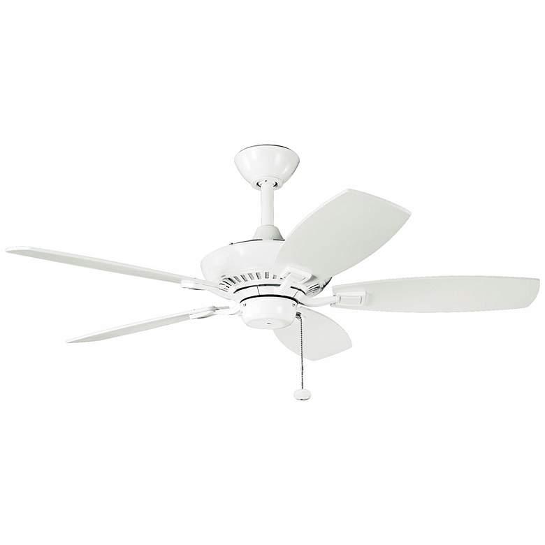 "44"" Kichler Canfield White Ceiling Fan"