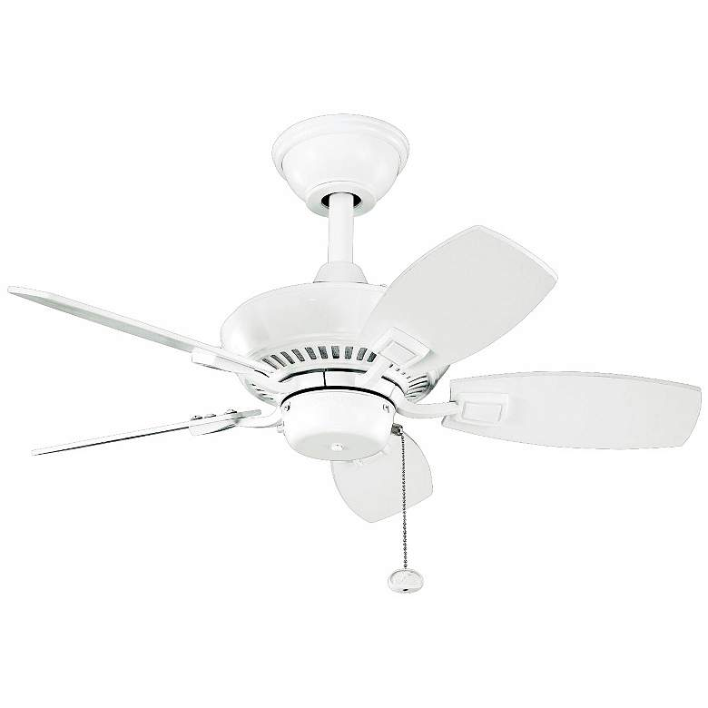 """30"""" Kichler Canfield White Indoor Outdoor Ceiling Fan"""