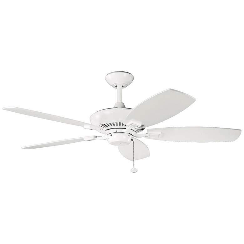 "52"" Canfield Kichler White Ceiling Fan"