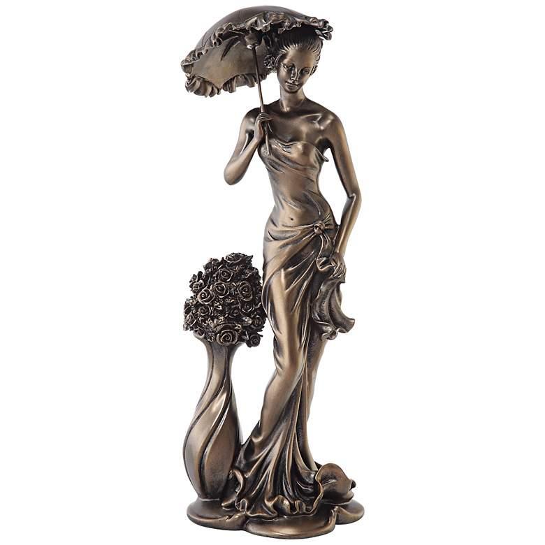 "Springtime Promenade Bronze Finish 14 3/4"" High Sculpture"