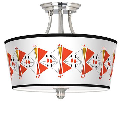 Lexiconic III Tapered Drum Giclee Ceiling Light