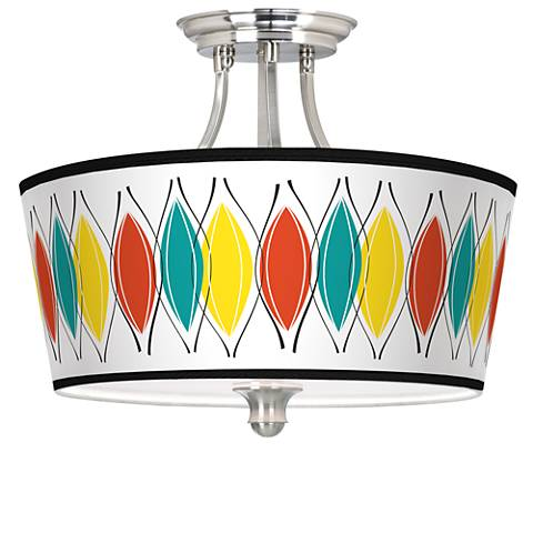 Harmonium Tapered Drum Giclee Ceiling Light