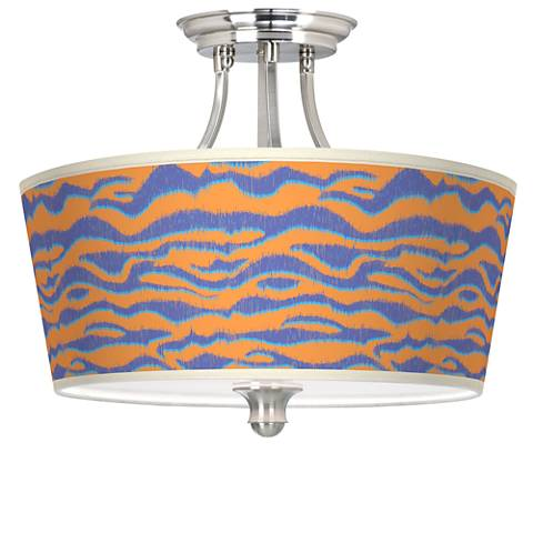 Sunset Stripes Tapered Drum Giclee Ceiling Light