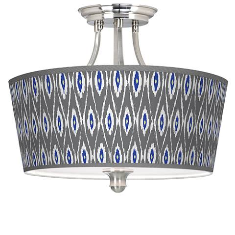 American Ikat Tapered Drum Giclee Ceiling Light