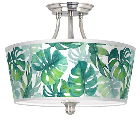 Tropica Tapered Drum Giclee Ceiling Light
