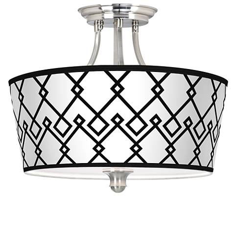 Diamond Chain Tapered Drum Giclee Ceiling Light