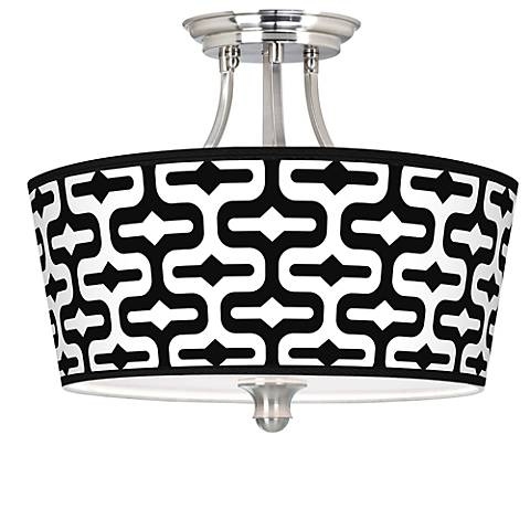 Reflection Tapered Drum Giclee Ceiling Light