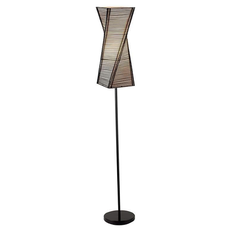 Stix Black Twisted Metal Floor Lamp