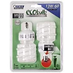 Cfl bulbs compact fluorescent light bulbs lamps plus ecobulb 2 pack candelabra base cfl 13 watt light bulbs aloadofball Image collections