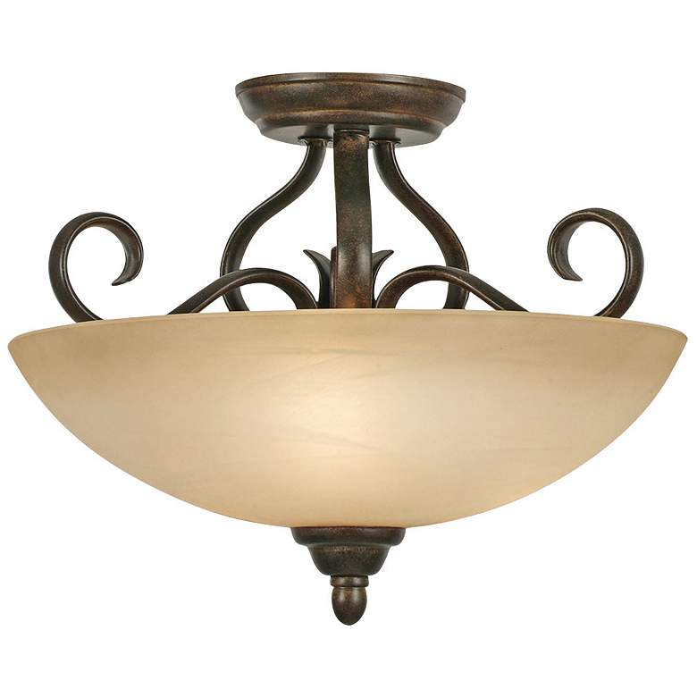 "Riverton 14 1/2"" Wide Peppercorn Convertible Ceiling Light"