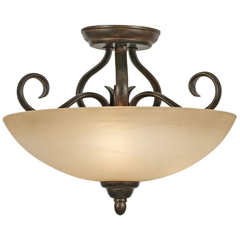 "Riverton 14 1/2"" Wide Peppercorn Convertible Ceiling Light"